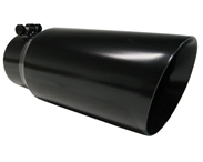 "MBRP Tip, 5""  Dual Wall Angled 4"" Inlet 12"" Long - Black (T5053BLK)"
