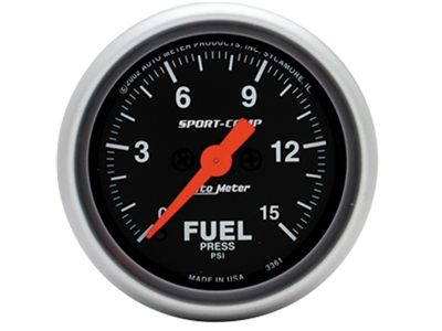Sport-Comp 15psi Fuel Press Gauge (3361)