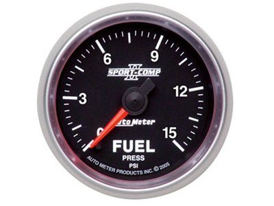 Sport-Comp II 15psi Fuel Press Gauge (3661)