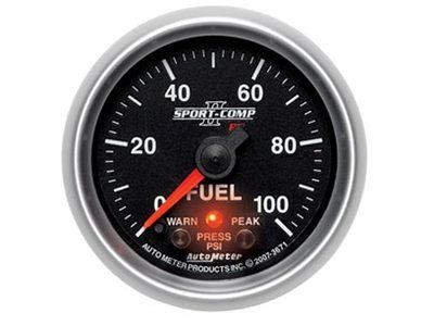 Sport-Comp II 100psi Fuel Press Gauge (3671)