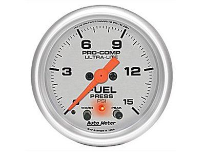 Ultra-Lite 15psi Fuel Press Gauge (4367)