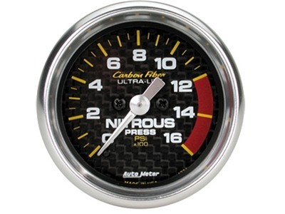 Carbon Fiber Nitrous Press Gauge (4774)