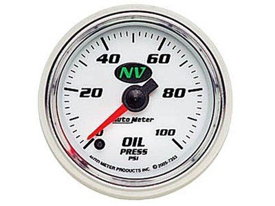 NV 100psi Oil Press Gauge (7353)