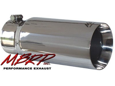 "MBRP Tip, 5""  Dual Wall Straight 4"" Inlet 12"" Long, T-304SS (T5049)"