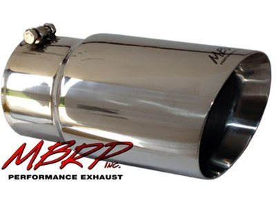 "MBRP Tip, 6""  Dual Wall Angled 5"" Inlet 12"" Long, T-304SS (T5074)"