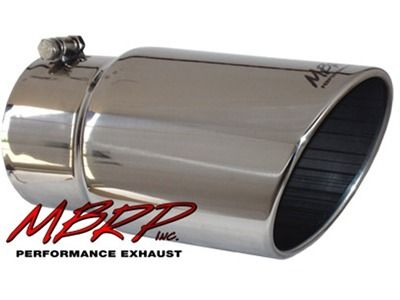 "MBRP Tip, 6""  Angled Rolled End 5"" Inlet 12"" Long, T-304SS (T5075)"