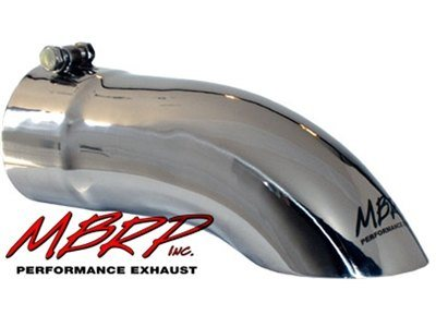 "MBRP Tip, 4""  Turn Down 4"" Inlet 12"" Long, T-304SS (T5081)"